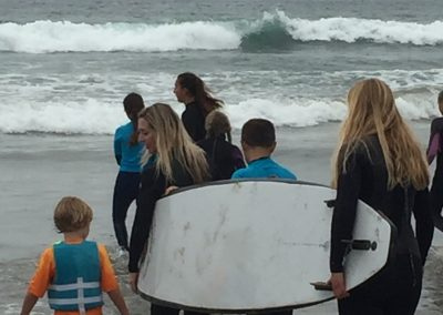 Project Surf Camp - Group Heading Out to Surf