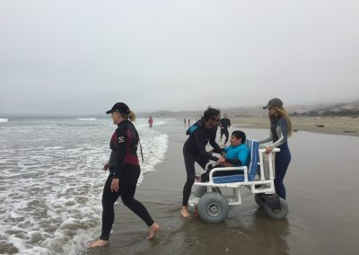 Project Surf Camp - Student with Surf Wheel Chair