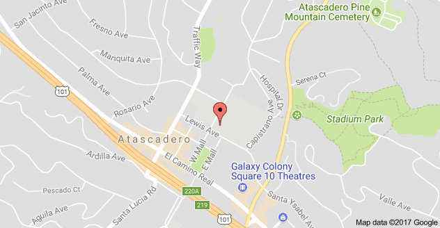 Map to Atascadero Middle School