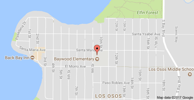 Map to Baywood Elementary School