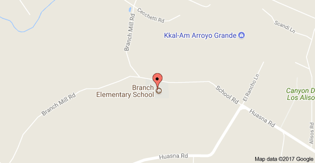 Map to Branch Elementary School