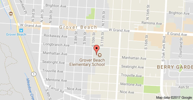 Map to Grover Beach Elementary School