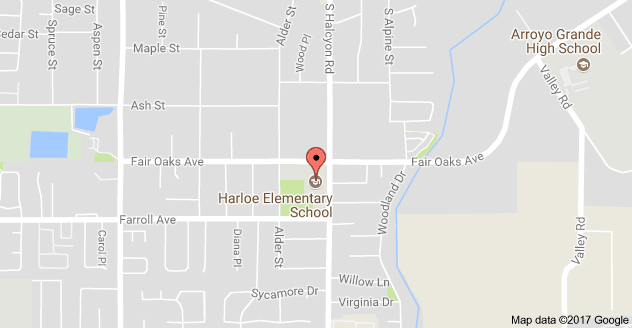 Map to Harloe Elementary School