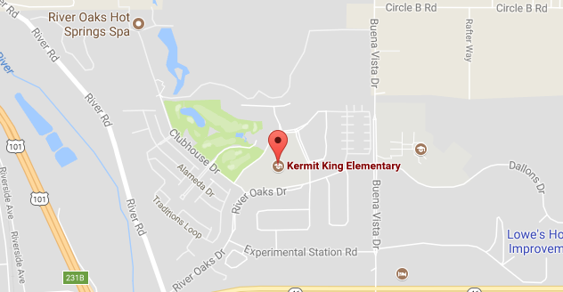 Map to Kermit King Elementary School