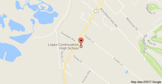 Map to Lopez Continuation High School