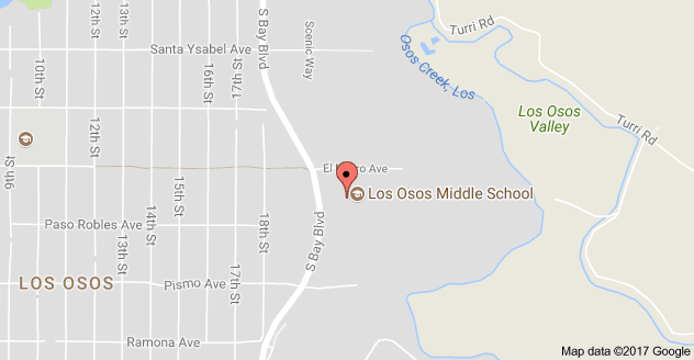 Map to Los Osos Middle School