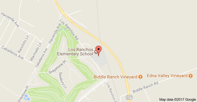 Map to Los Ranchos Middle School