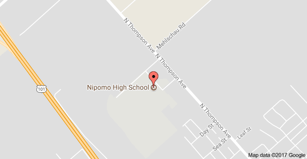 Map to Nipomo High School and Central Coast New Tech High School