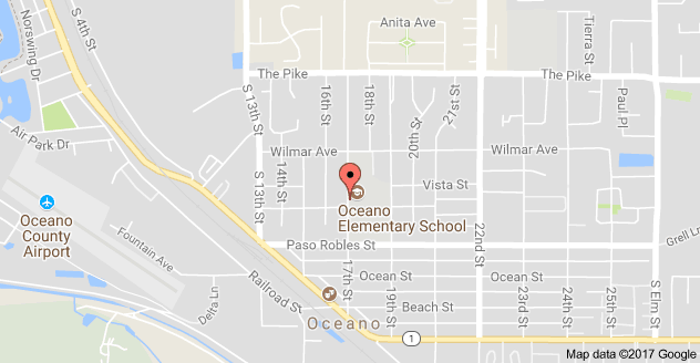 Map to Oceano Elementary School and First 5