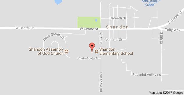 Map to Shandon Elementary School