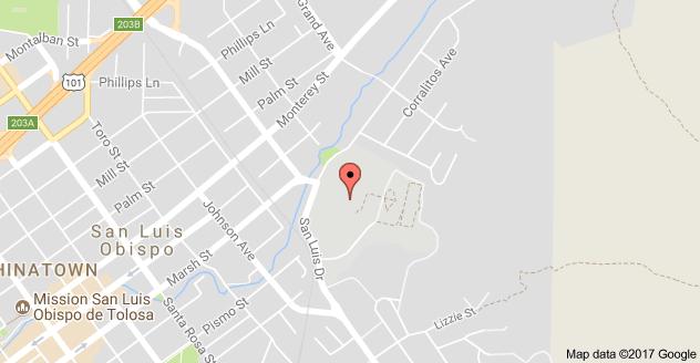 Map to San Luis Obispo High School