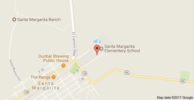 Map to Santa Margarita Elementary School