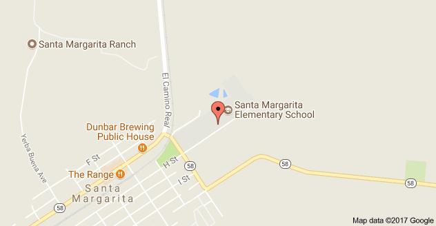 Map to Santa Margarita Elementary School