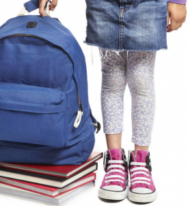 Photo of child with bookbag