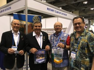 Rotary members Brescia, Geil and members from Brasil