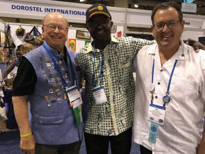 Rotary members Brescia, Geil and member from Burundi