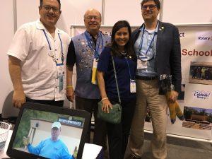 Rotary members Brescia, Geil and members from Myanmar