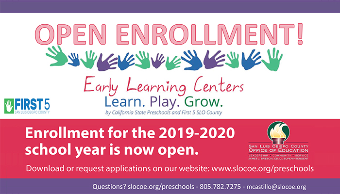 Preschool Open Enrollment for 2019-2020 Now Open