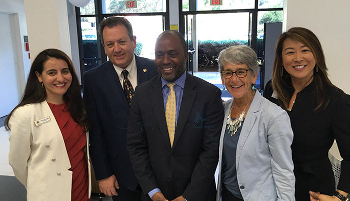 Tony Thurmand, State Superintendent of Public Instruction, along with Dr. Brescia, County Superintendent of Schools, Susan Salcido, County Superintendent of Schools, Santa Barbara COE, and Santa Barbara COE staff