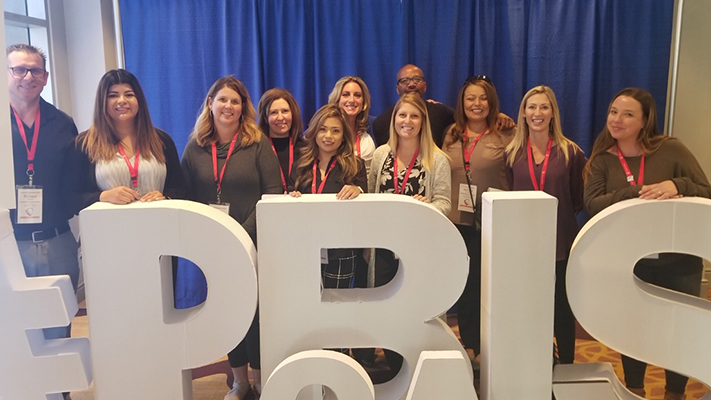 Student Programs and Services and Probation Staff at PBIS conference